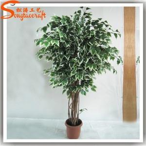 Make artificial little green banyan ficus trees bonsai plant sale mini durable topiary indoor banyan tree bonsai