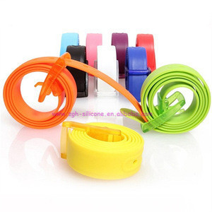 New design fashion plastic silicone belt candy jelly belt for men