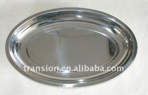 Stainless steel Deep Oval Dish Tray