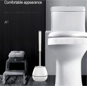 Toilet Brush and Holder TPR Toilet Bowl Brush with Ventilation Holder for Bathroom Toilet Cleaning