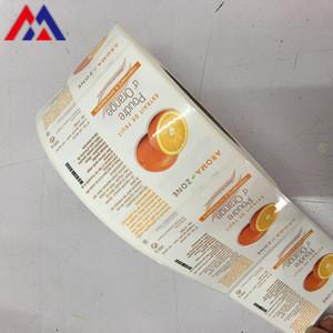 Vinyl Custom Sticker Printing Adhesive Cosmetic Product Packaging Label Sicker