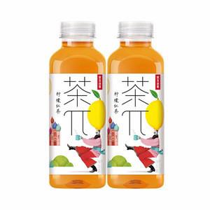 Wholesale Lemon Flavor Bottled Black Tea Drink Soft Tea Drink Fruit Beverages