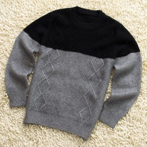Winter knitted children pullover 100% cashmere kids sweater