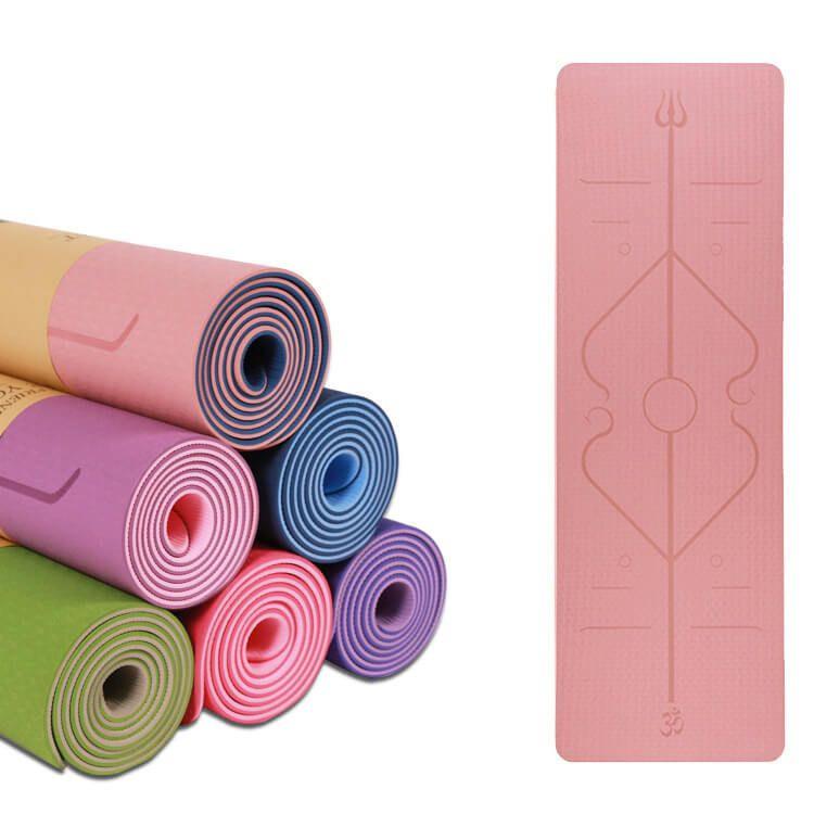 Wholesale Biodegradable 100% Eco-friendly TPE Yoga Mat Double Layer Yoga Mat With Custom Logo