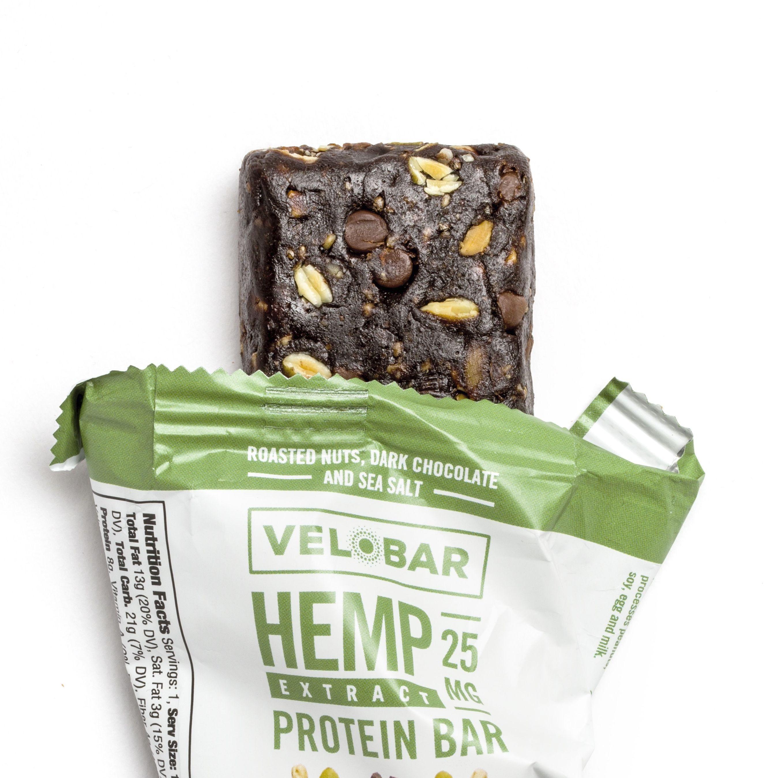 Velobar Hemp Extract Protein Bar / Chocolate flavor