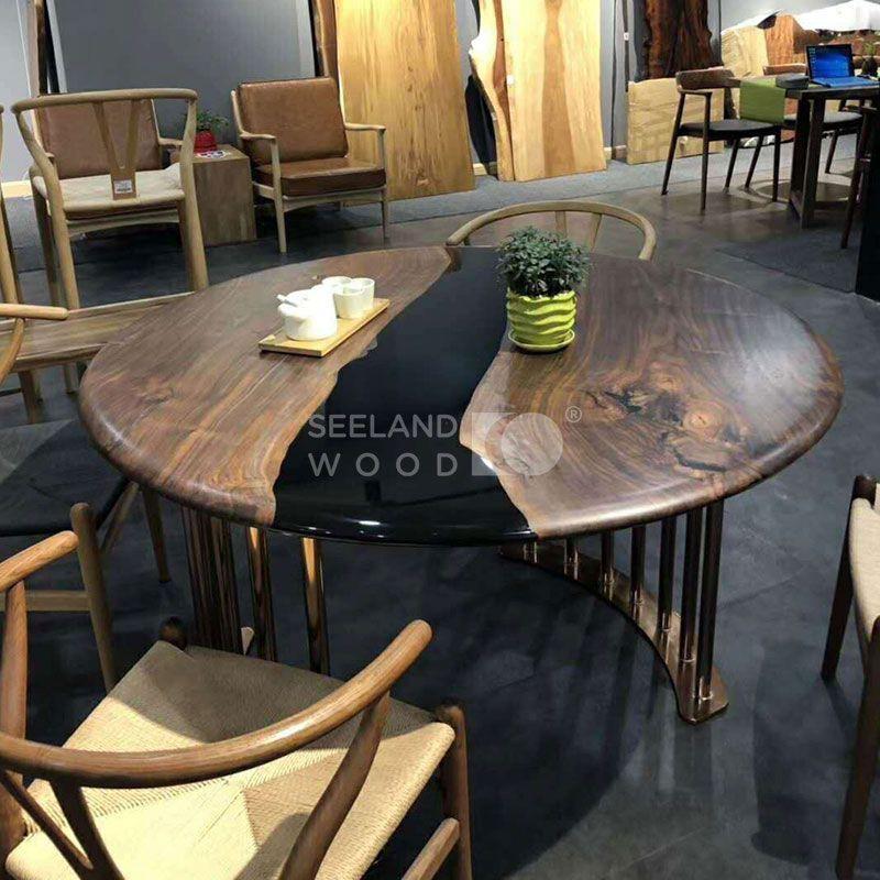 Modern Epoxy Resin Round Dining Table Modern Epoxy Resin Round Dining Table Suppliers Manufacturers Tradewheel