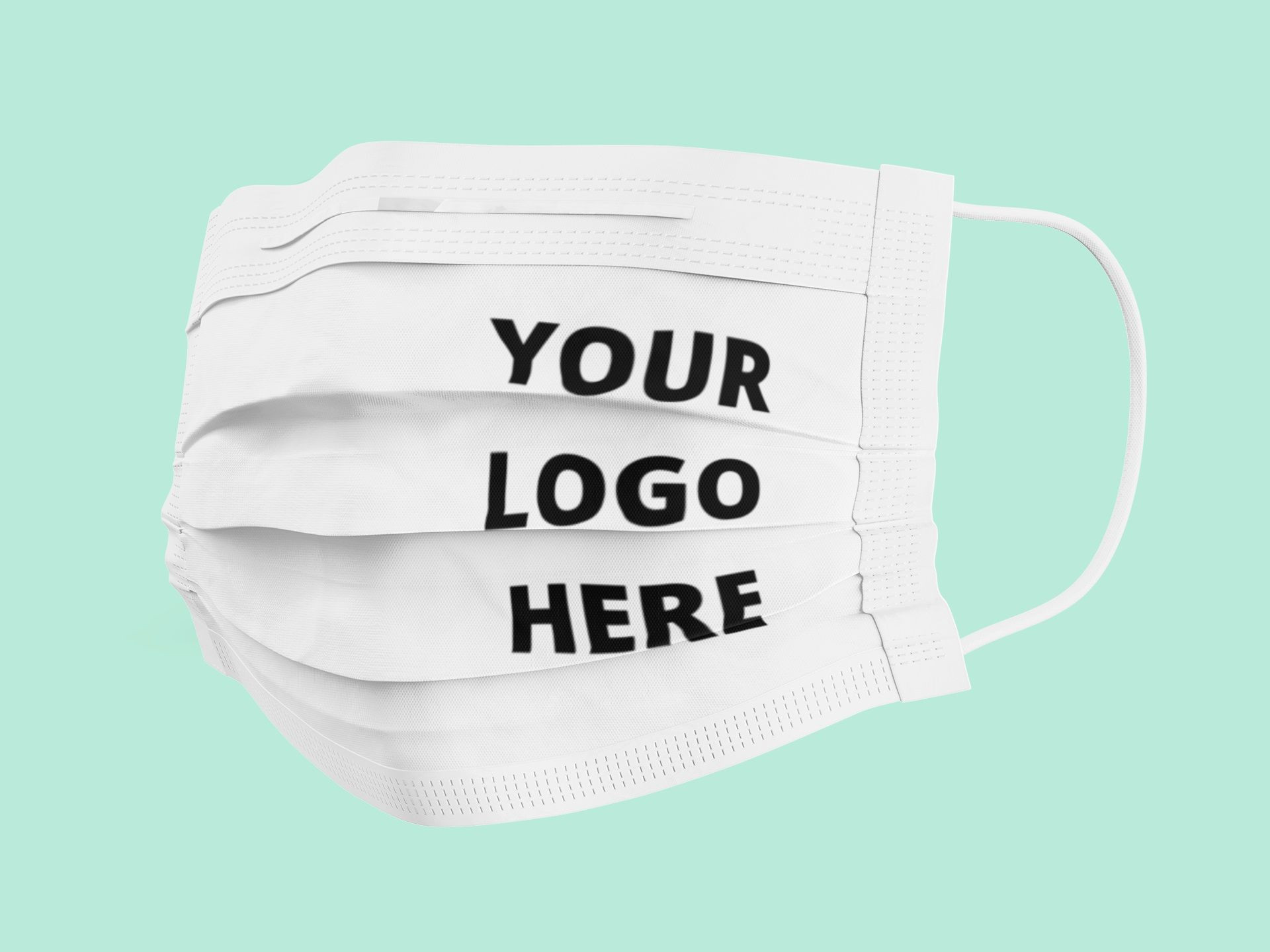 Customized Logo Print Business Face Masks Branded Multiple Use Textile