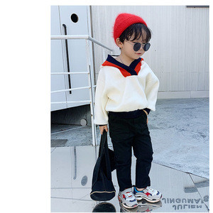 2019 Fashion Sport Shirt  Custom Logo With Hooded Children  Knit Sweater Boys