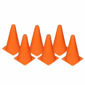 23*14cm Plastic Sport Training Traffic Cone (Set of 12 or 24)- Five colors