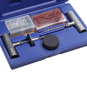 52pc Tire repair tools kit  with zinc alloy T handle reamer and insertion needle 4 inch tire seal strings