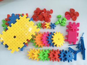 81pcs funny gear toy intelligent plastic building blocks for sale