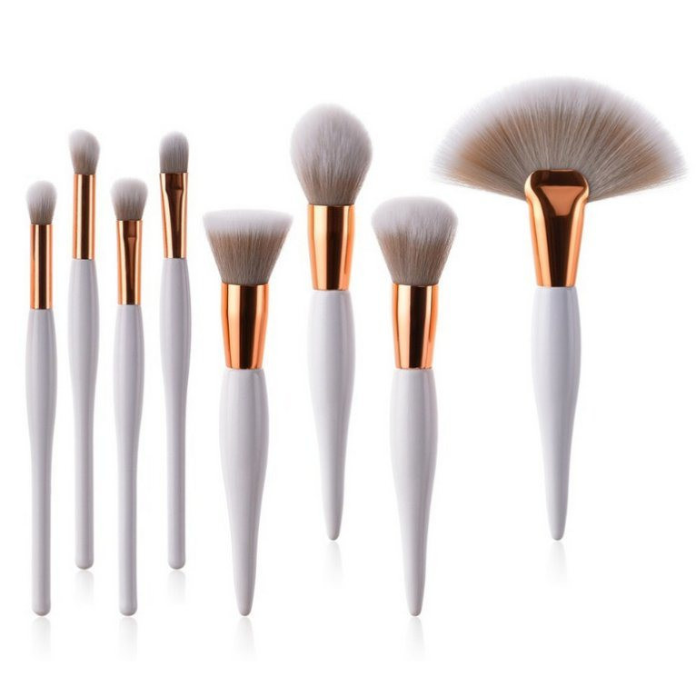 8PCS Makeup Cosmetic Brush Set with Synthetic Hair