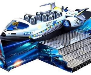 Amusement park mechanical equipment electric car amusement parks airplane rides space ship for adult and children