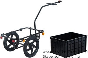 Bicycle Bike Cycle Cargo Trailer Goods Load Transport Carrier Carriage Tow Cart