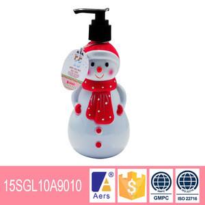 Body scrub with snowman shape bottle