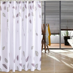 China factory cheap price luxury bathroom mat set with waffle shower curtain