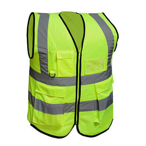 Chinese clothing factory Cheap Neon yellow Safety Walking Reflective vest