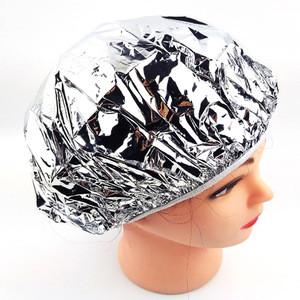 Disposable Salon Waterproof Shower Cap Heat Insulation Aluminum Foil Hat Elastic Bathing Cap for Women Hair Salon Bathroom