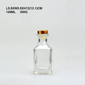 Empty glass perfume bottle oil perfume bottles crystal