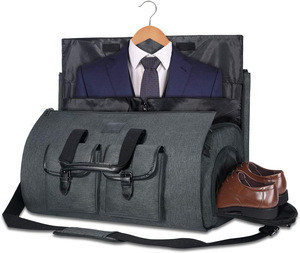 Essential Travel Organizer Duffel Travel Weekend Bag Garment Bag Suit with Shoe Pouch
