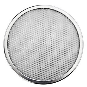 Factory aluminum stainless steel seamless baking pizza screen net with different sizes