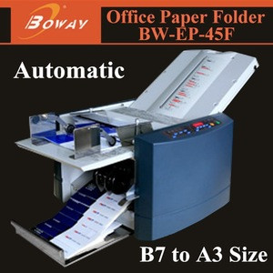 Hangzhou HUPU BOWAY service AD Office automatic pharmaceutical leaflets folding machine