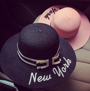 Hot sale new style high quality wholesale custom fashion woman panama straw hat