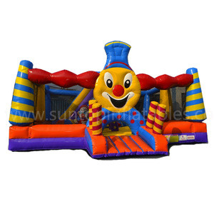 Hot sales train inflatable bounce playground with good quality and best price