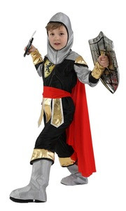 Kids Child Royal Warrior Medieval Knight Costume for Boys Halloween Carnival Party Costumes