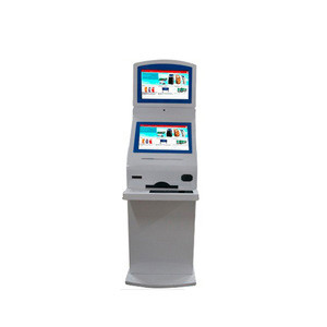 Multifunctional self service terminal eyebrow Kiosk with Barcode Scanner, printer and card reader