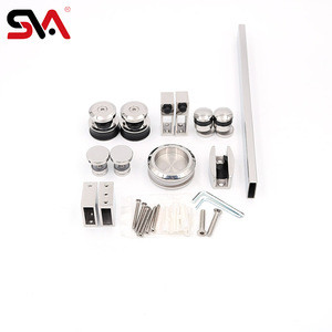 New Launch SUS304 Shower Frameless Sliding Glass Door Hardware