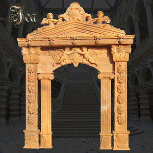 Outstanding manufacture marble carved flower door frame surround