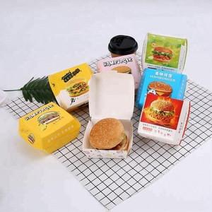 Personalized  Hamburger Carton Box Food Packing Box