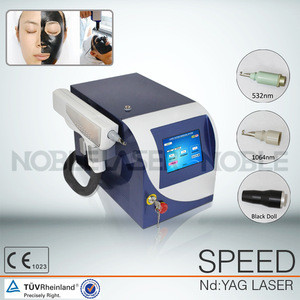 Portable Q-Switch ND YAG Laser Tattoo Removal with two Laser Tips 1064nm&532nm