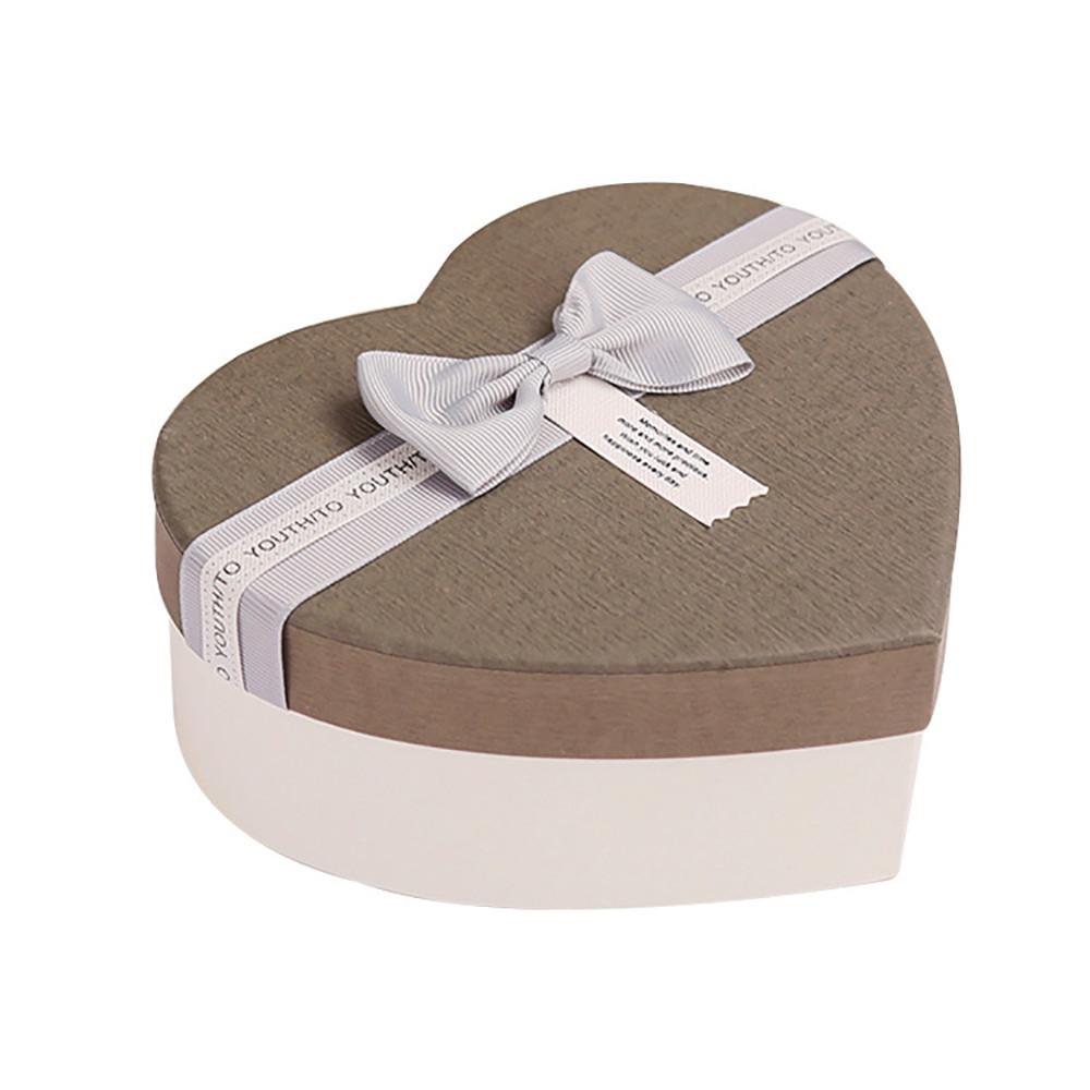 Pretty Elegant Heart Shape Flower Paper Box Perfume Cosmetics Packaging Box For Gift