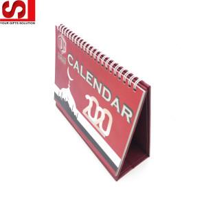 Promotion custom A4 size paper calendar 365 days planner Calendar paper school office supplies Paper calendar