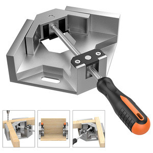 Right Angle Clamp Single Handle 90 Corner Clamp Aluminum Alloy Right Angle Clip Clamp Tool Woodworking Photo Frame Vise Holder