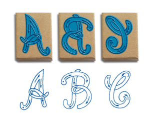Rubber wooden Stamps for kid of Alphabet, animals, fruits, numbers, math