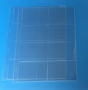 Semi Regid Pro 8 Pocket Trading Card / Coupon Album Pages binder sheets