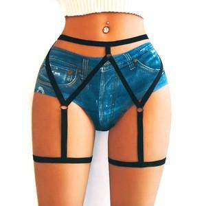 Sexy Punk Harness Waist Suspender Lingeries Body Chain Clip Bondage Stud Garters Belt For Women
