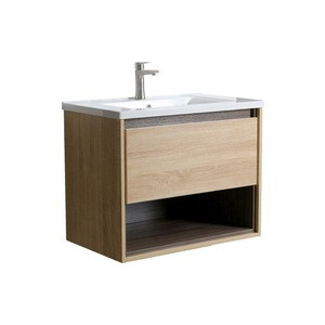 Small wooden bathroom furniture wall hung bathroom cabinet unit