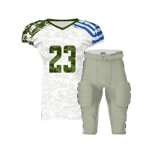 Top quality Adults wear Hot Sale 100% polyester OEM services design american football uniform