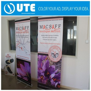 Trade show use print roll up stang,roll up display, rotating banner stand