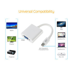 USB 3.1 Type C (USB-C) to VGA Adapter Converter With ABS Case