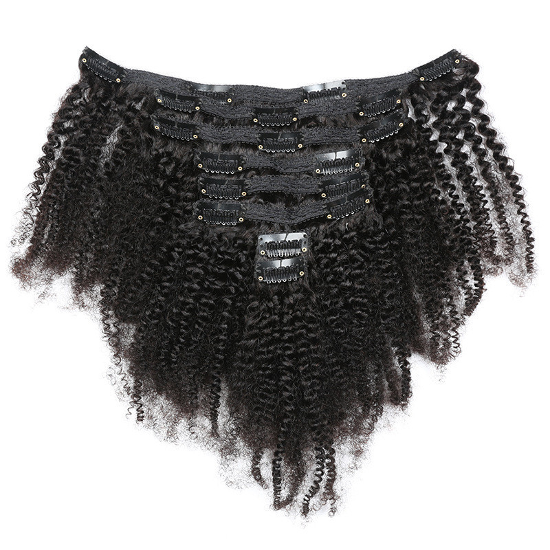 Wholesale Brazilian Human Hair Afro Kinky Curly Weave Remy Hair Clip In Human Hair Extensions