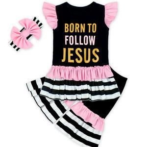 Wholesale Cheap Summer Newborn Clothes Sets 2 Pieces Kids Boutique Clothing Toddler Baby Clothes Set