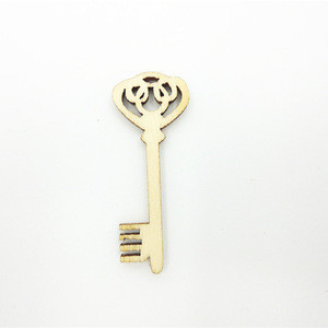 Wholesale Custom oem Design Laser Cut old key Wooden Crafts Wood Craft Shapes