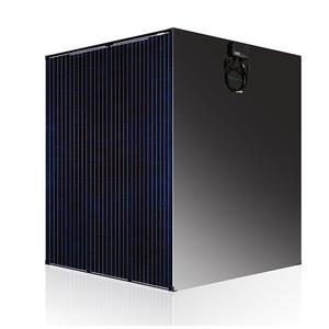 YUS Hot Sale Double Glass Black Solar 370W 360W 350W 5BB Photovoltaic Transparent Glass Solar Panels
