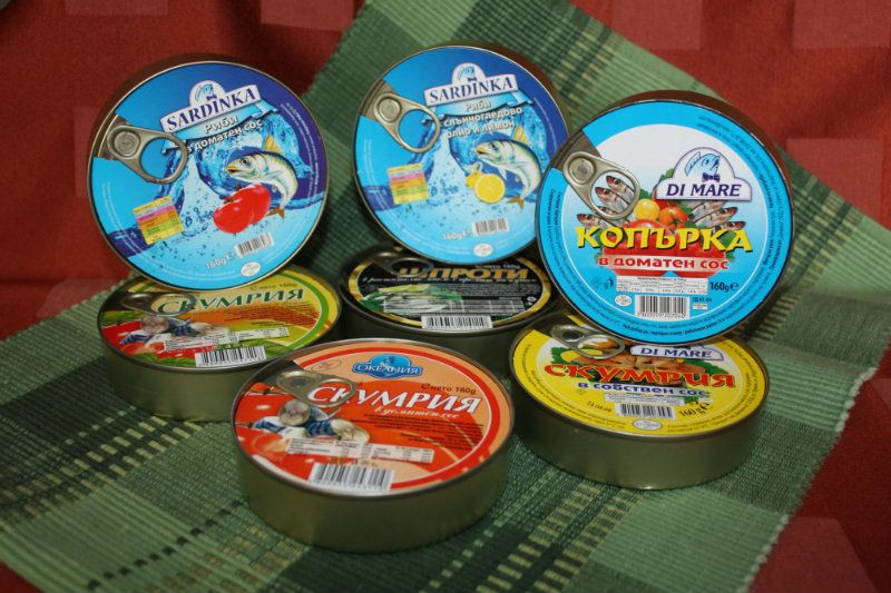 Canned fish from Bulgaria