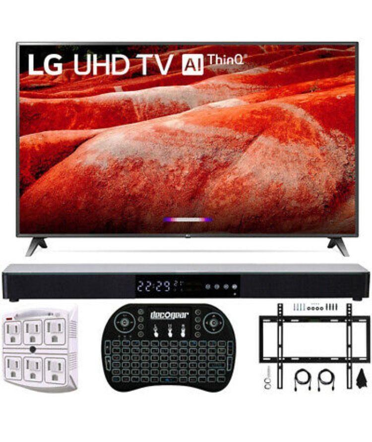 "LG 86"" 4K HDR Smart LED IPS TV with AI ThinQ 2019 Model + Soundbar Bundle"